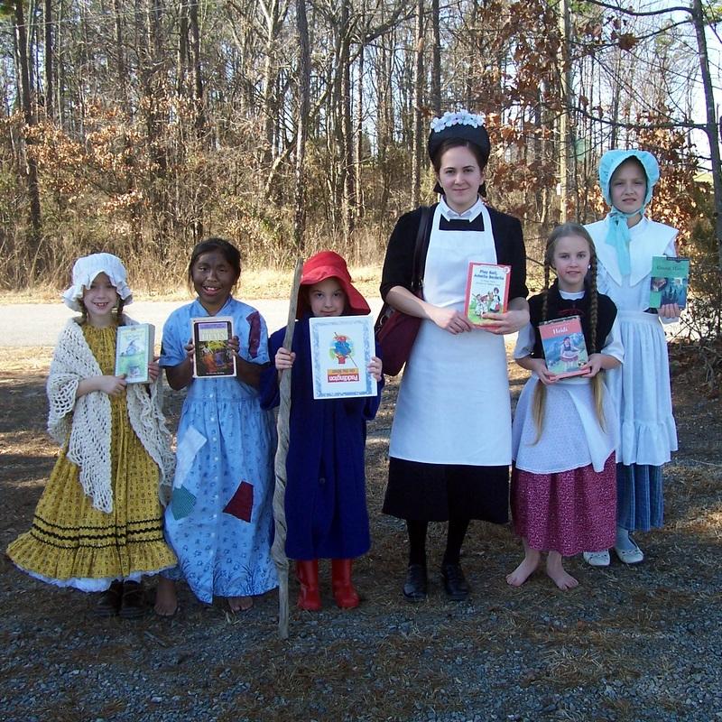 Laura Ingalls, Harriet Tubman, Paddington Bear, Amelia Bedelia, Heidi, and John Bunyan's daughter