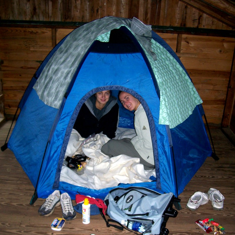 Set up of our bright blue pop up tent with its three flexible rods to stretch it into shape was easy. Dora suggested we spread out our blankets and read. & Our Shivering Expedition to Isle Royale National Park - Properties ...