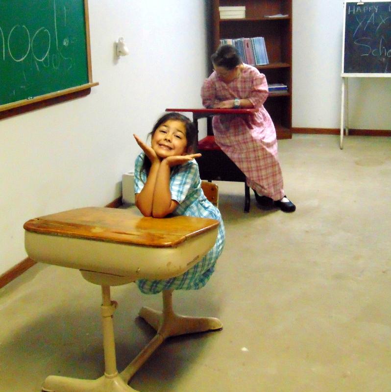 MacKenzie and Regina at school
