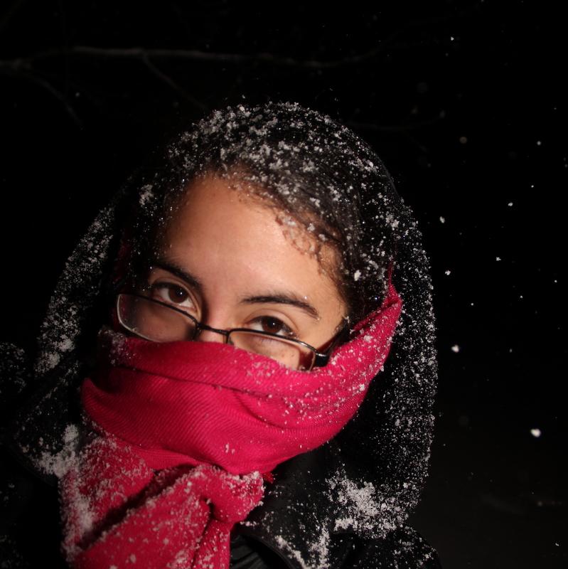 Elizabeth in snow