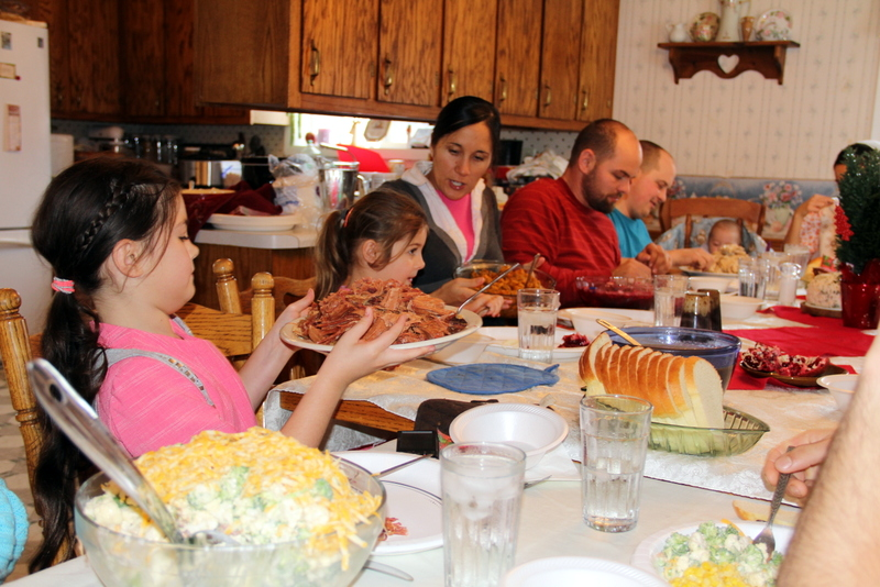 Christmas Dinner at the Millers